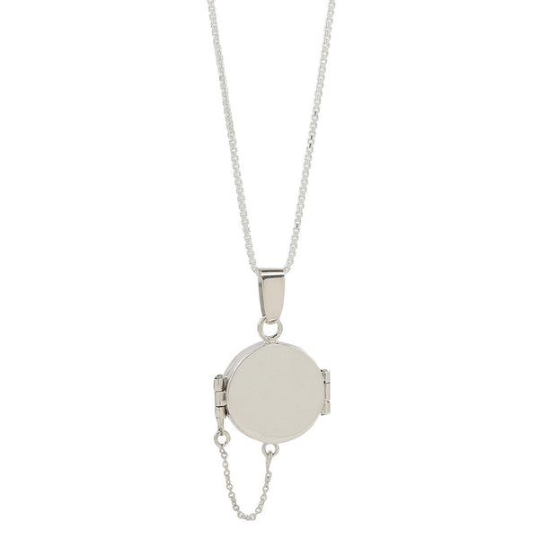 round locket necklace in sterling silver .925
