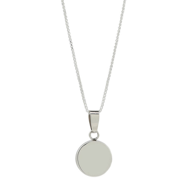 full moon necklace in sterling silver .925