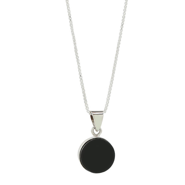 new moon necklace in sterling silver .925 and jade