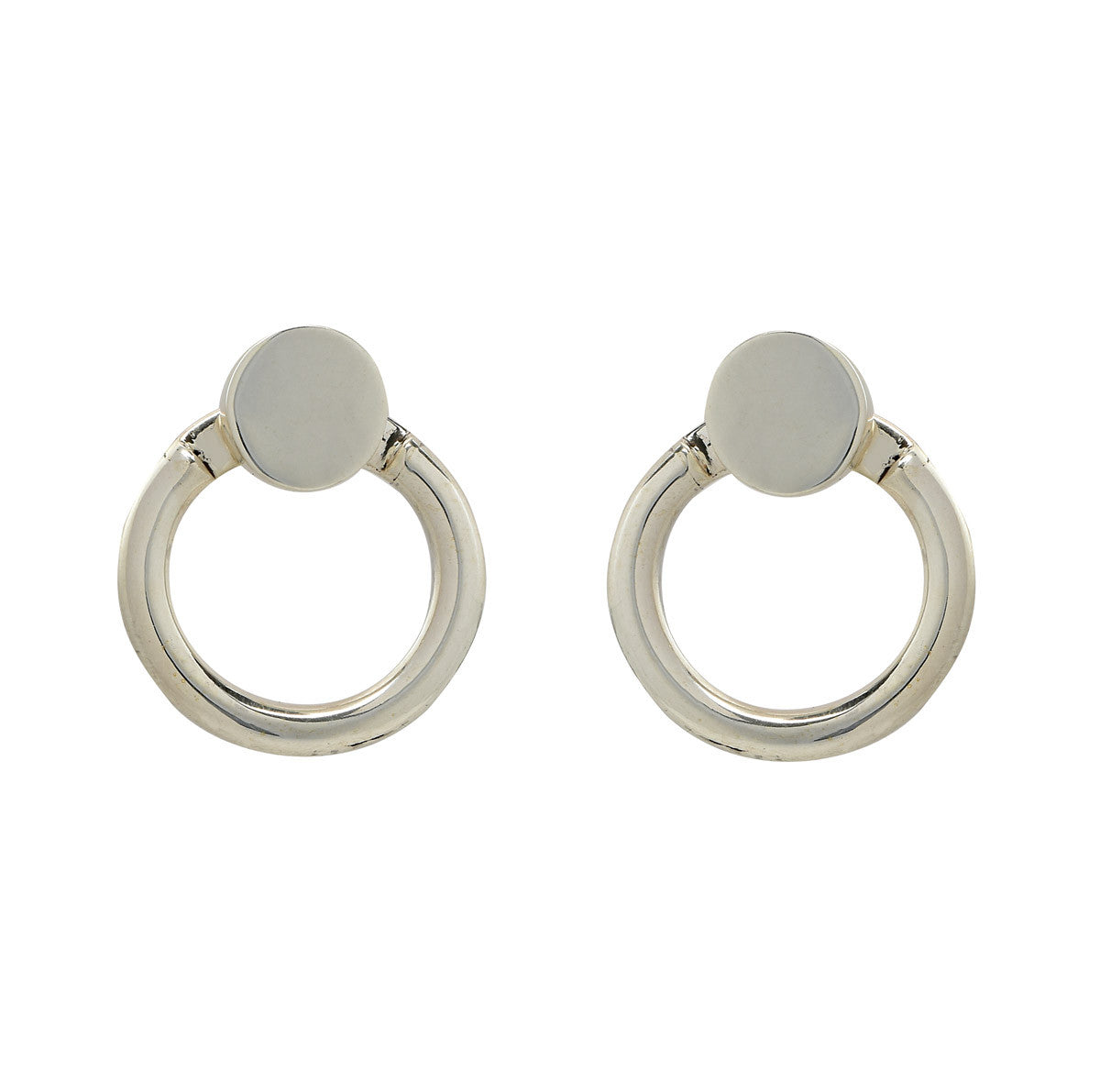 Silver Eclipse Earrings - René Habie