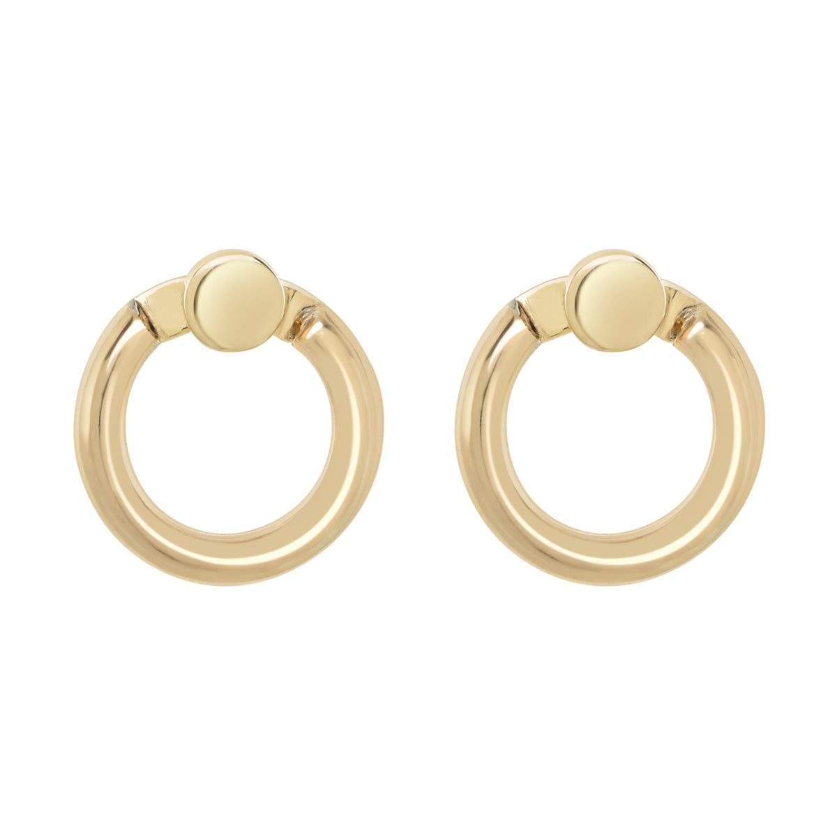 Gold Mini Eclipse Earrings - René Habie
