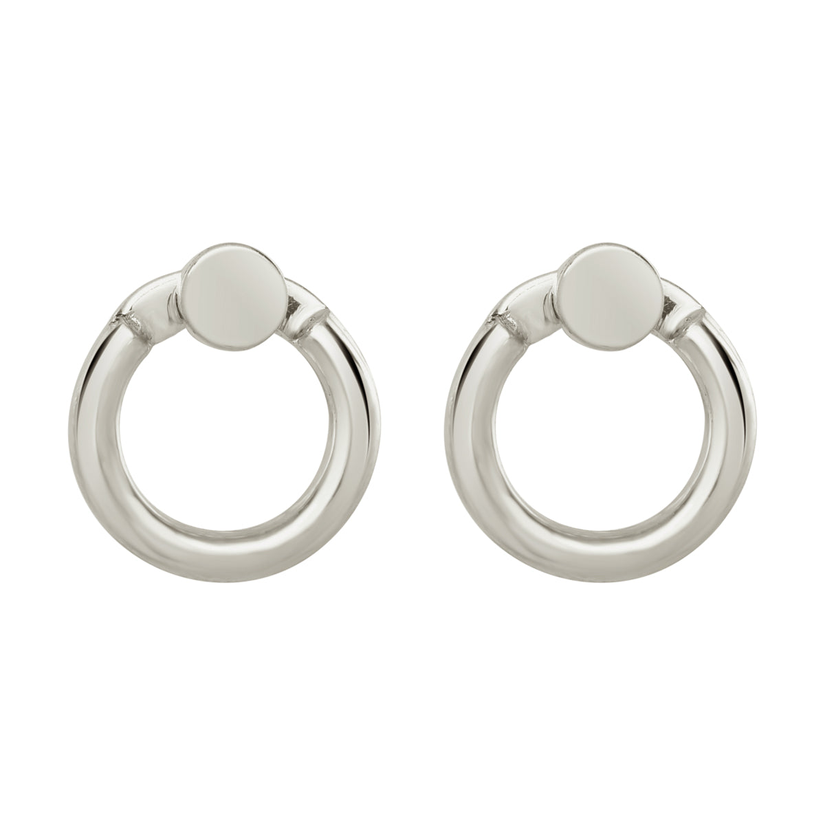 Silver Mini Eclipse Earrings - René Habie