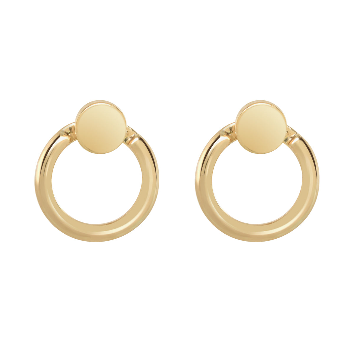 Gold Eclipse Earrings - René Habie