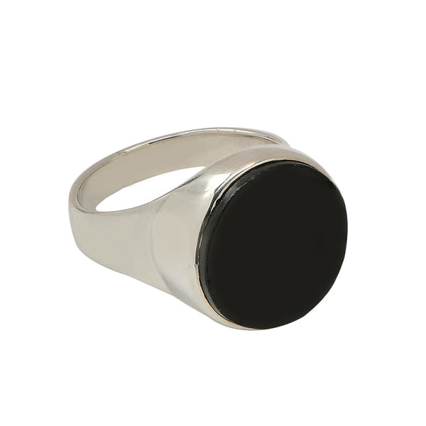 new moon ring in sterling silver .925 and jade