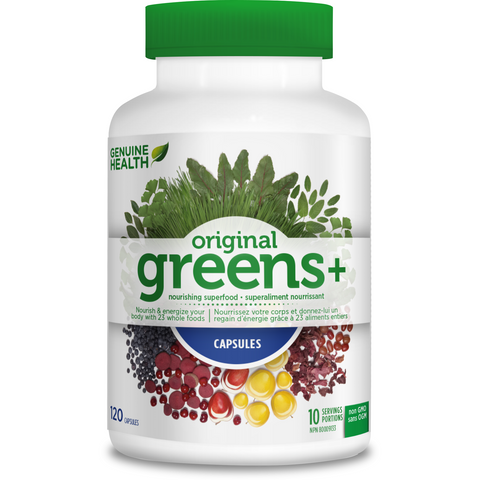 Genuine Heath Greens+ (120 capsules) - Top Nutrition and Fitness Canada