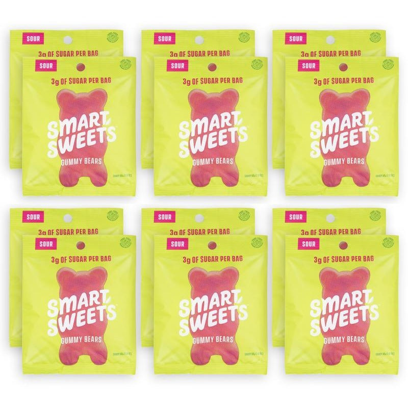 SmartSweets Low Sugar Gummy Bears (Box of 12) - Top Nutrition and Fitness Canada