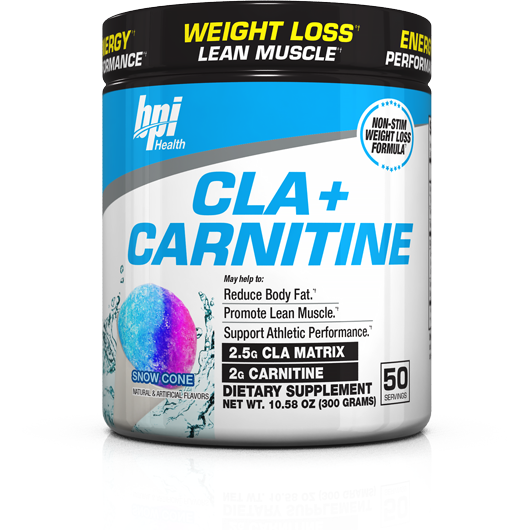 BPI CLA+Carnitine Stim-Free Fat Burner Powder (50 servings) - Top Nutrition and Fitness Canada