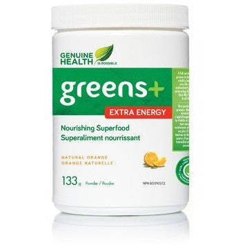 Genuine Health Greens+ Extra Energy 133g - Top Nutrition and Fitness Canada