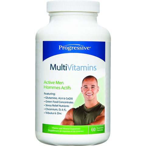 Progressive Active Men's Multivitamin 60caps - Top Nutrition and Fitness Canada