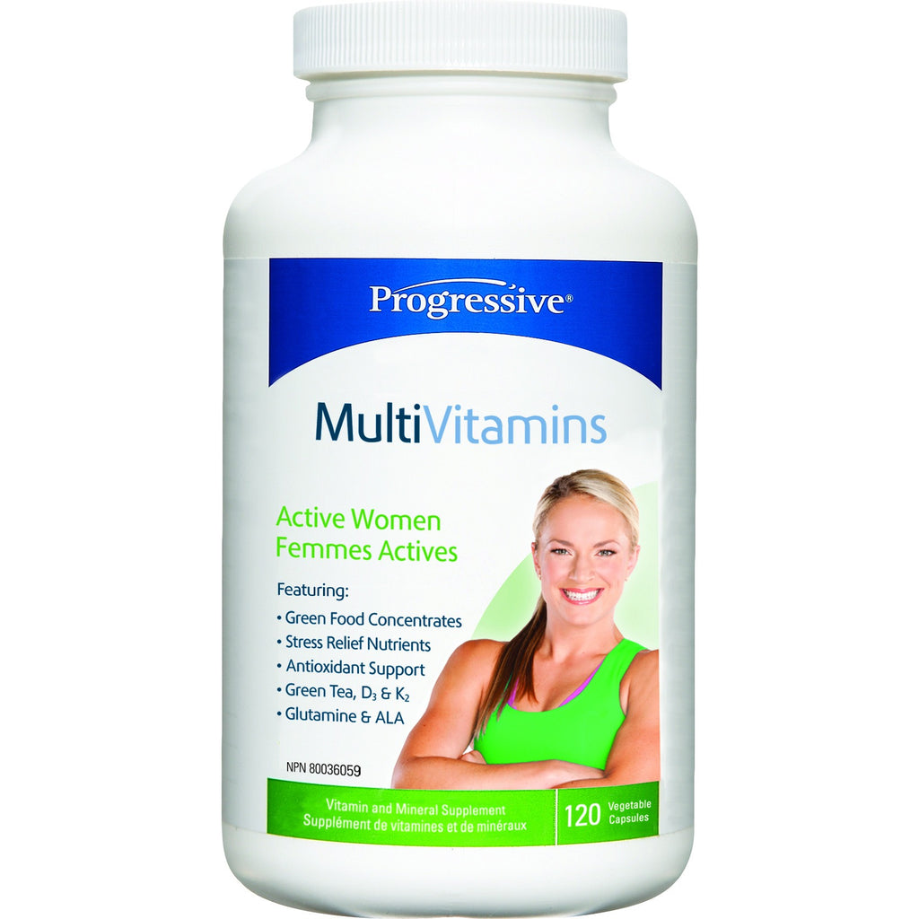 Progressive Active Women's Multivitamins 120 caps - Top Nutrition and Fitness Canada