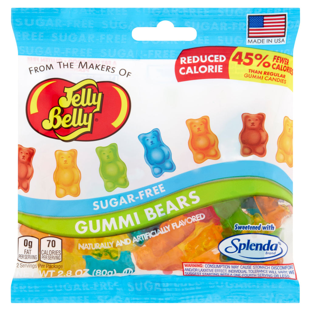 Jelly Belly SUGAR-FREE Gummi Bears (1 bag) - Top Nutrition and Fitness Canada