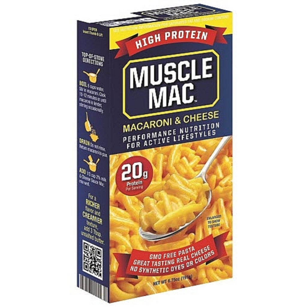 MuscleMac Protein Mac and Cheese Box - Top Nutrition and Fitness Canada