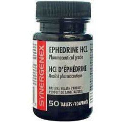 Synergenex Ephedrine HCL (50 tablets / 8mg) - Top Nutrition and Fitness Canada