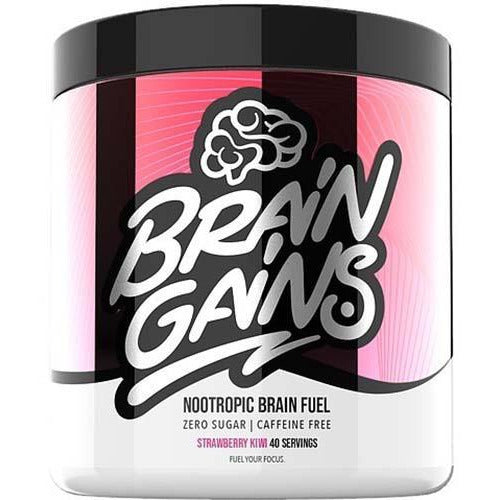 Brain Gains SWITCH ON! Nootropic Brain Fuel (Caffeine Free) 40 servings