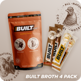 Built Broth 4 pack (2 chicken & 2 beef bone broth servings)