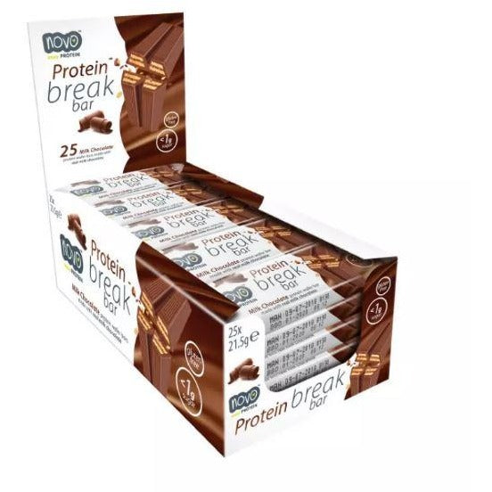 NOVO Protein Break bar (Box of 25) - Top Nutrition and Fitness Canada