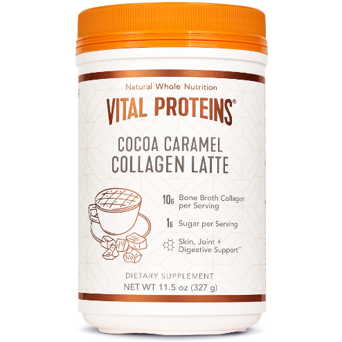 Collagen Latte Cocoa Caramel (11.5 oz) - Top Nutrition and Fitness Canada