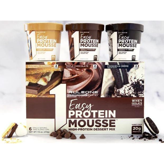Rule1 Easy Protein Mousse VARIETY 6-PACK (2 of each flavour)