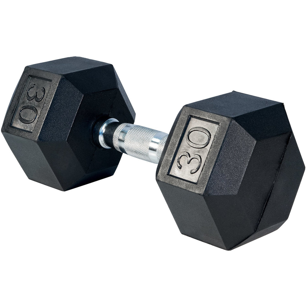 Rubber Hex Dumbells - Ergonomic shape handles (1 PAIR of 2 DUMBBELLS) - Top Nutrition and Fitness Canada