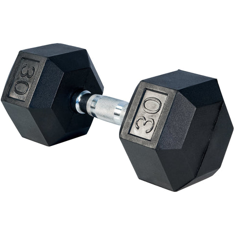 (MUST PRE-ORDER BY FRIDAY 3PM EST) Rubber Hex Dumbells - Ergonomic shape handles (1 dumbell)