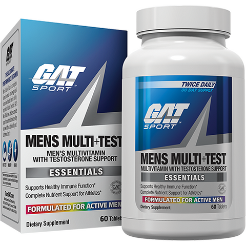 GAT Sport Mens Multi+Test 60 capsules - Top Nutrition and Fitness Canada