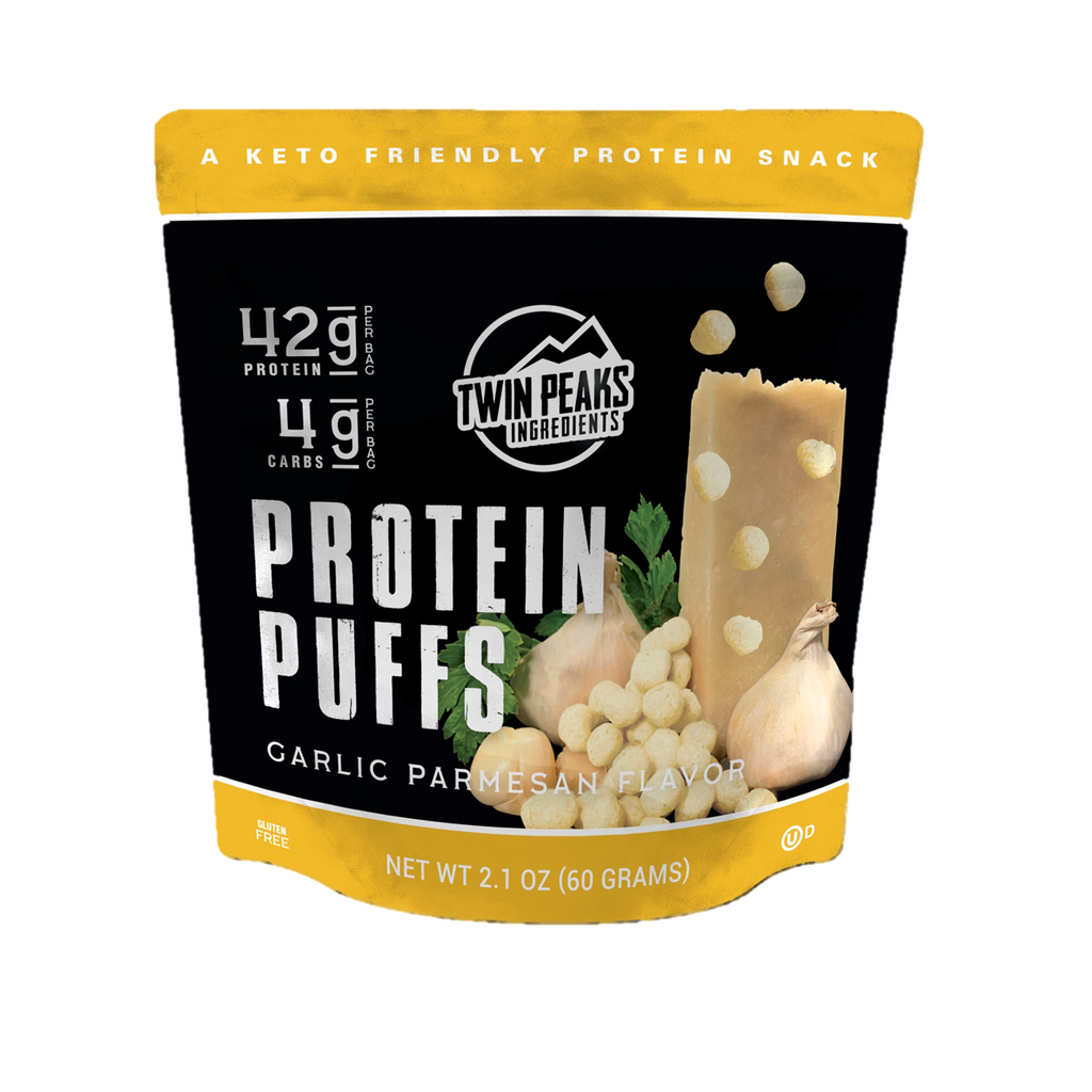 Twin Peaks KETO Protein Puffs (2 servings of 21g protein) - Top Nutrition and Fitness Canada