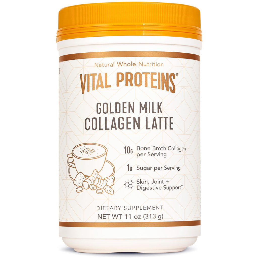 Collagen Latte Golden Milk (11 oz) - Top Nutrition and Fitness Canada