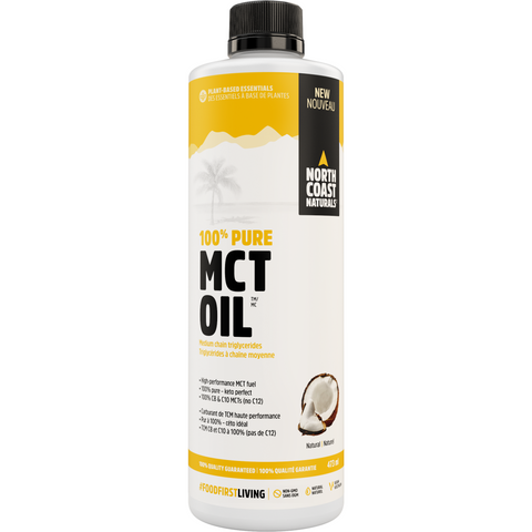 North Coast Naturals 100% Pure MCT OIL (473ml) - Top Nutrition and Fitness Canada