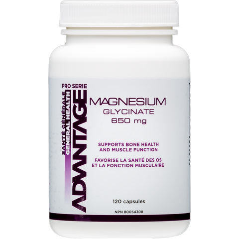 BNI Advantage Pro Serie Magnesium Glycinate (120 capsules) - Top Nutrition and Fitness Canada