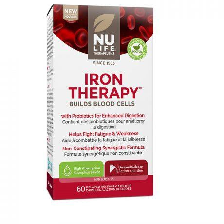 Nu Life Iron Therapy (60 Vegan Capsules) - Top Nutrition and Fitness Canada