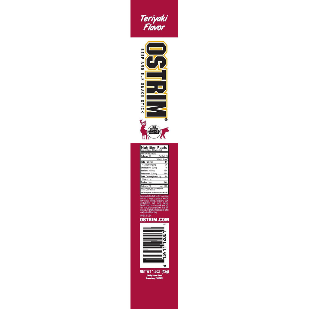 OSTRIM  Beef and Elk Snack Stick (1 stick) - Top Nutrition and Fitness Canada