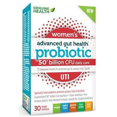 Genuine Health Probiotic Women UTI (30 capsules) - Top Nutrition and Fitness Canada