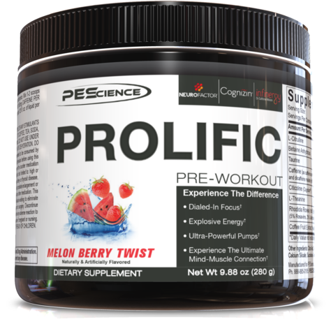 PEScience Prolific Pre-Workout (40 servings) - Top Nutrition and Fitness Canada