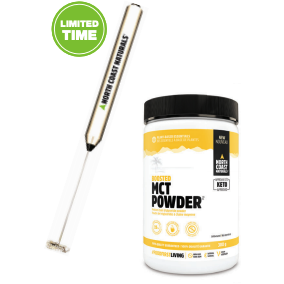 North Coast Naturals MCT Oil Powder (300g) + FREE FROTHER!