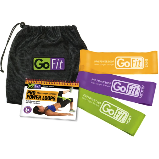 "GOFIT POWER LOOPS - 3"" PRO - SET OF 3 WITH TRAINING MANUAL"