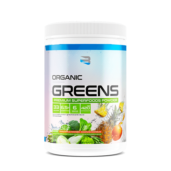 Believe Supplements Organic Greens (33 servings) - Top Nutrition and Fitness Canada
