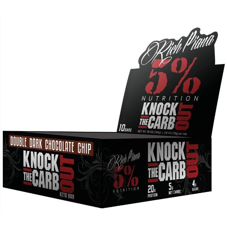 5% Nutrition KNOCK THE CARB OUT Protein Bars (Box of 10)