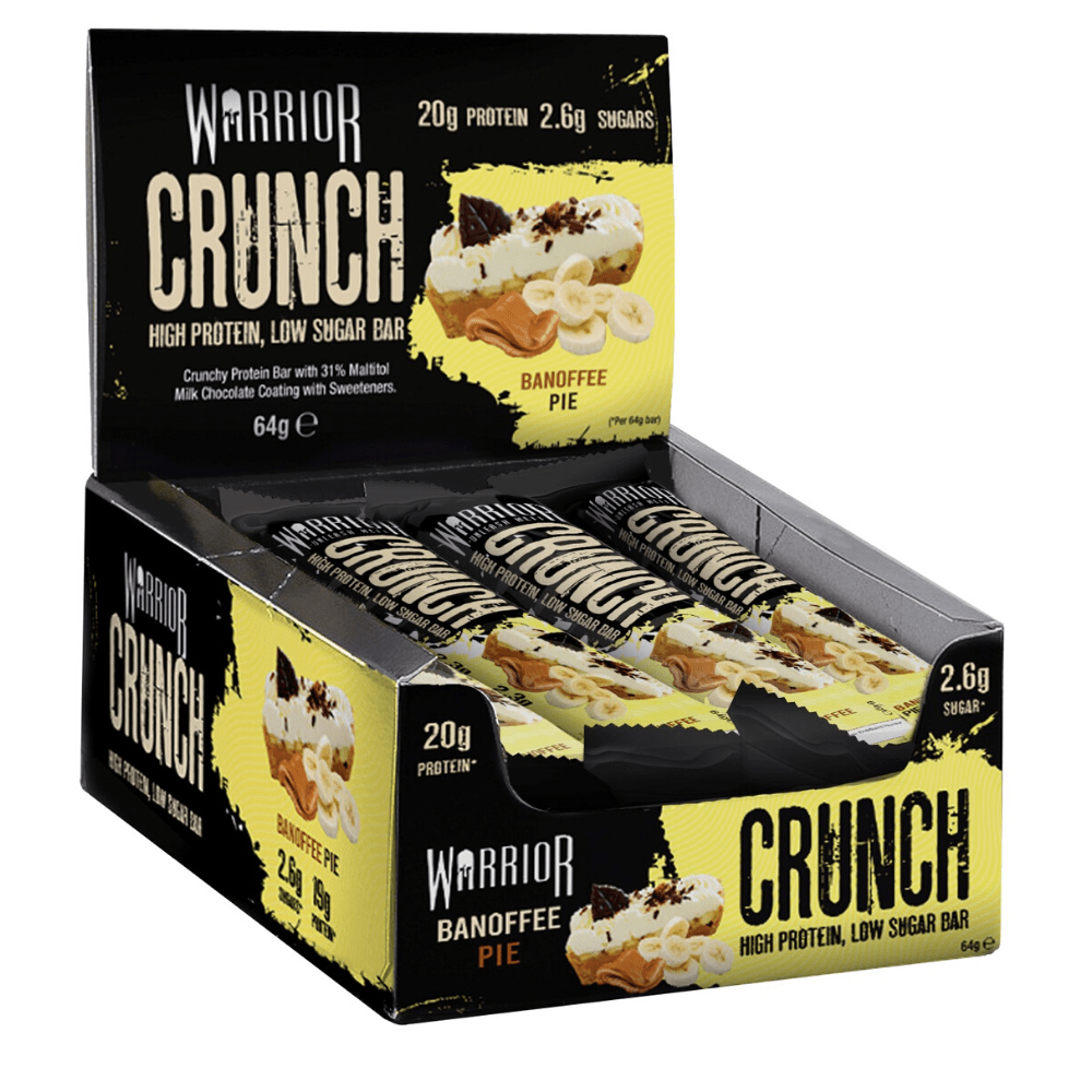 Warrior Crunch Low-Carb Protein Bars (Box of 12) - Top Nutrition and Fitness Canada