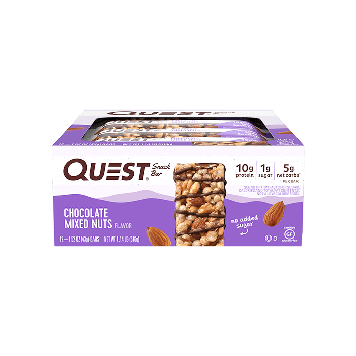 Quest Snack Bar (box of 12) - Top Nutrition and Fitness Canada