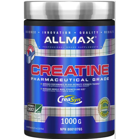 ALLMAX Creatine Monohydrate (1000g) - Top Nutrition and Fitness Canada