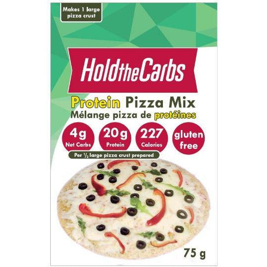 Hold the Carbs Keto Gluten-Free Protein Pizza Crust Mix  (75g) - Top Nutrition and Fitness Canada