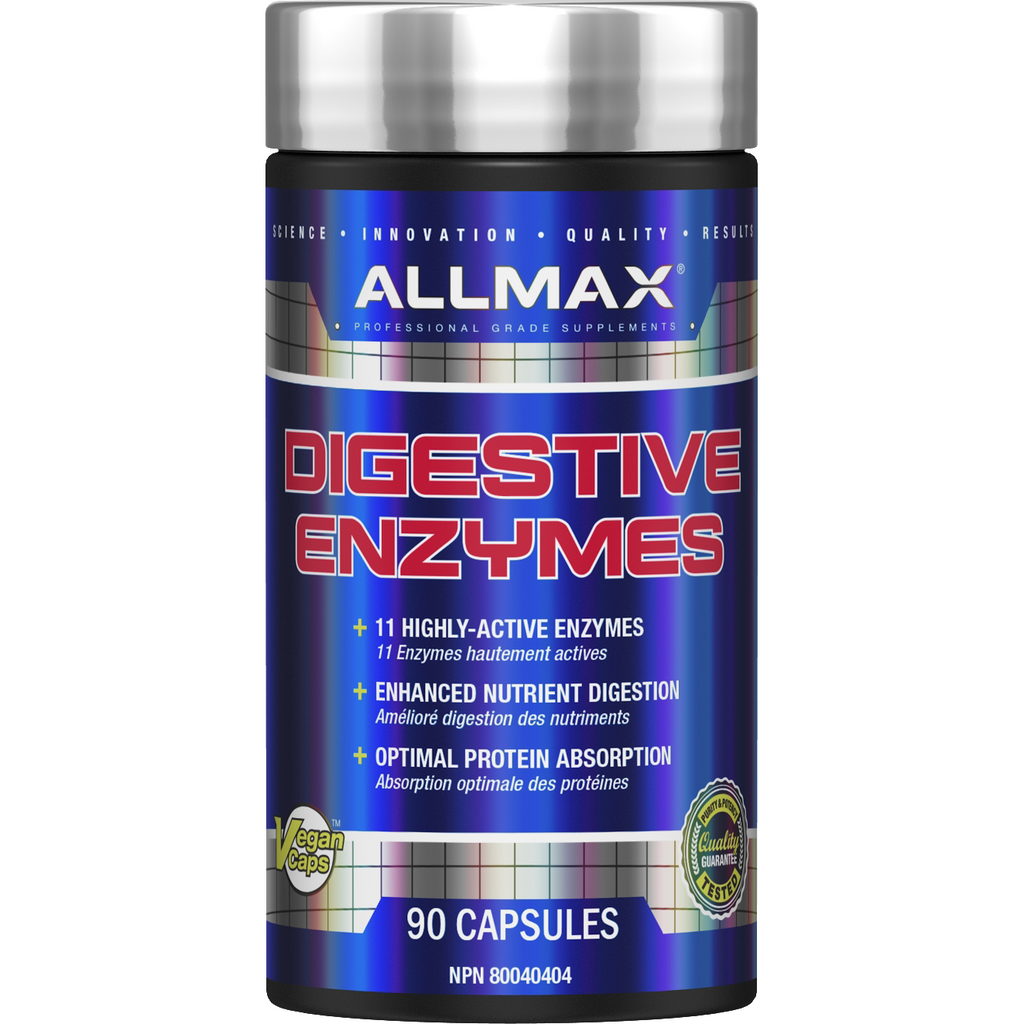ALLMAX Digestive Enzymes (90 capsules) - Top Nutrition and Fitness Canada