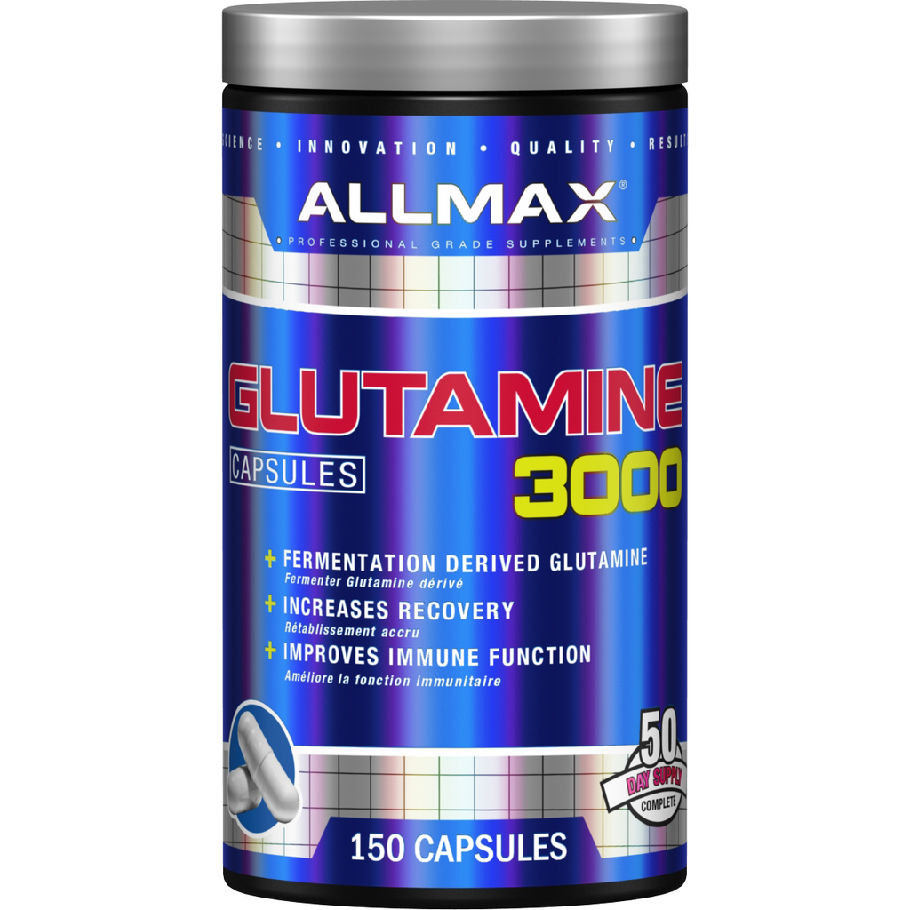 Allmax Glutamine (150 capsules) - Top Nutrition and Fitness Canada