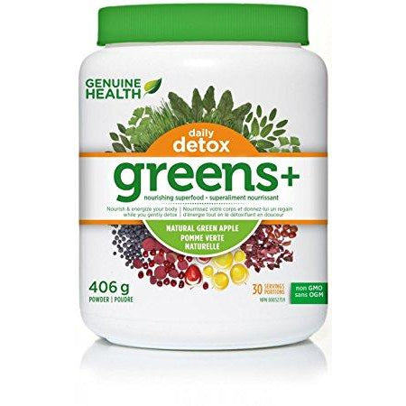 Genuine Health Greens+ Daily Detox 406g - Top Nutrition and Fitness Canada