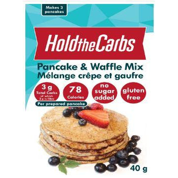 Hold the Carbs KETO Gluten-Free Pancake and Waffle Mix (40g - Makes 3 pancakes) BEST BY MAY 15, 2020 - Top Nutrition and Fitness Canada