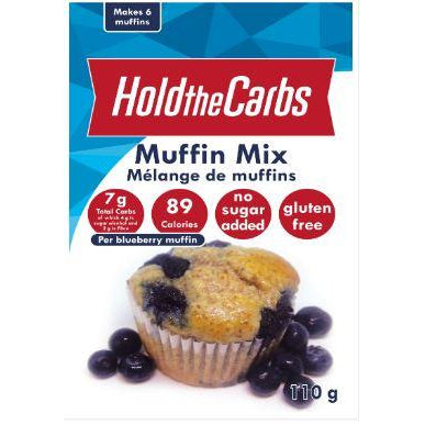 Hold the Carbs KETO Gluten-Free Vegan Muffin Mix (110g) (stevia only) - Top Nutrition and Fitness Canada