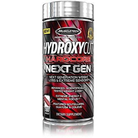 MuscleTech Hydroxycut Hardcore Next Gen (BONUS 180 capsules) - Top Nutrition and Fitness Canada