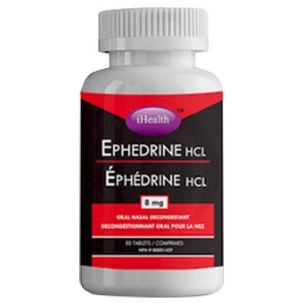 Ephedrine HCL 8mg- 50 tablets - Top Nutrition and Fitness Canada