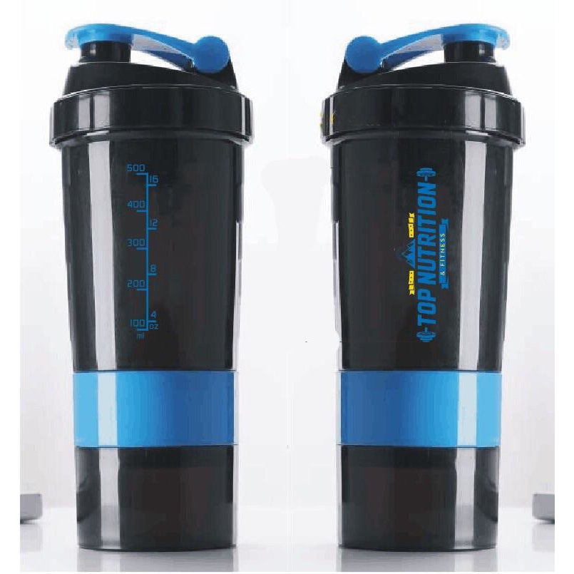 Top Nutrition DELUXE Shaker Cup with 2 compartments & Blender Ball (1 shaker) - Top Nutrition and Fitness Canada