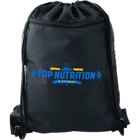 Top Nutrition Drawstring Bag with Zipper